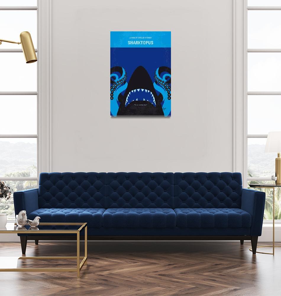 """""""No485 My Sharktopus minimal movie poster""""  by Chungkong"""