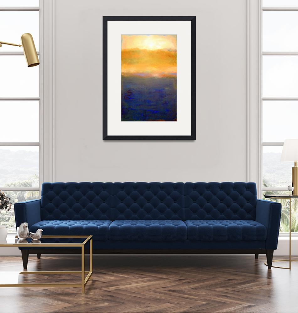 """""""Abstract Sunset over Lake Michigan""""  (2008) by Michelle1991"""