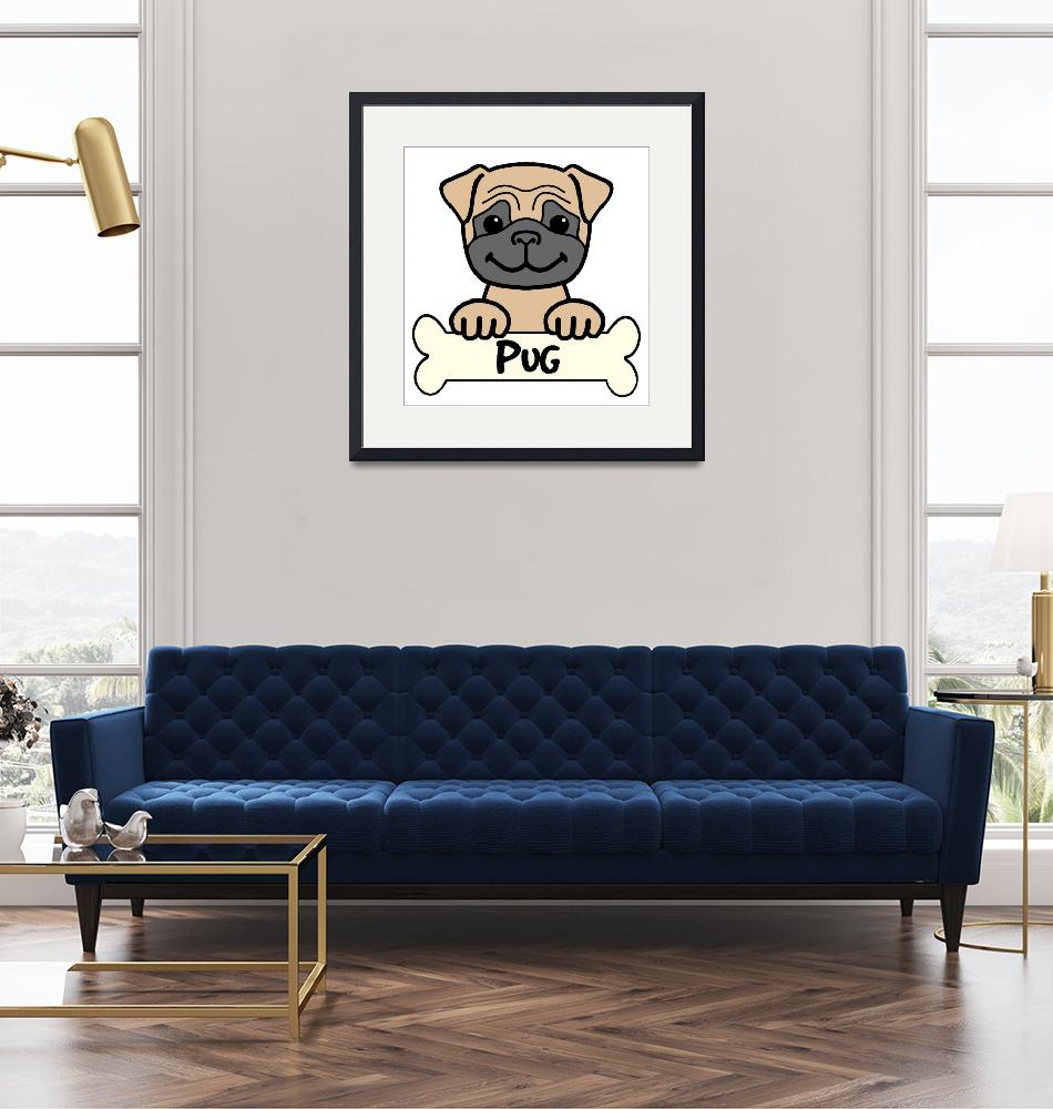 """""""Pug""""  (2009) by AnitaValle"""