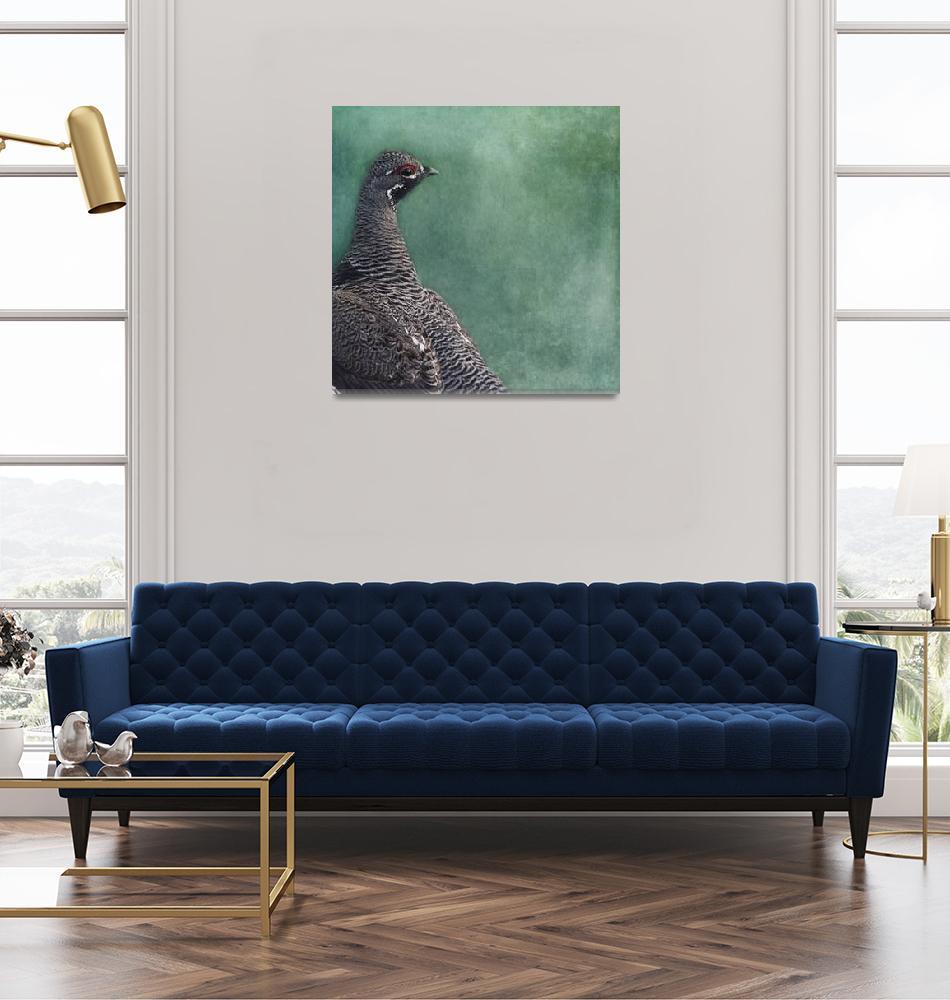 """Spruce Grouse""  (2018) by Piri"