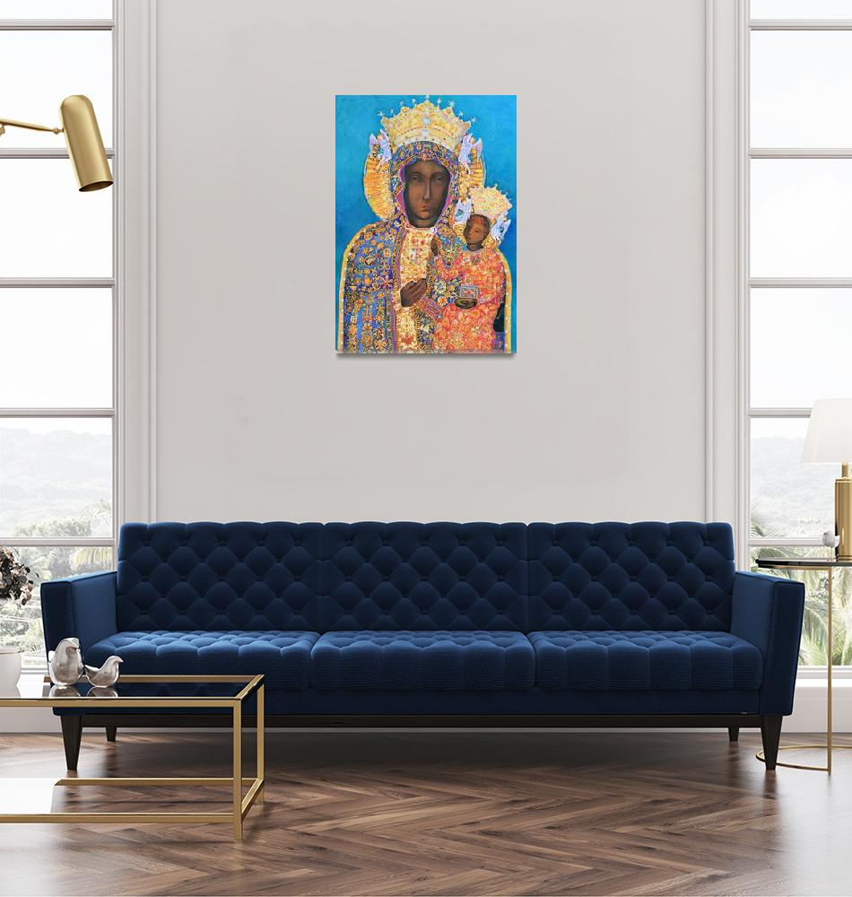 """Black Madonna and Child Our Lady of Czestochowa""  (2016) by Maggy"