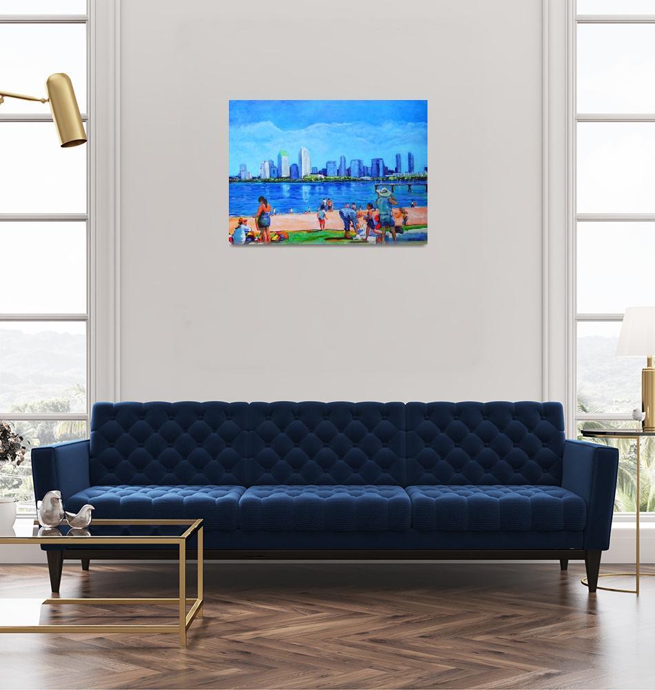 """Beach at Ferry Landing Cornado CA""  (2006) by RDRiccoboni"