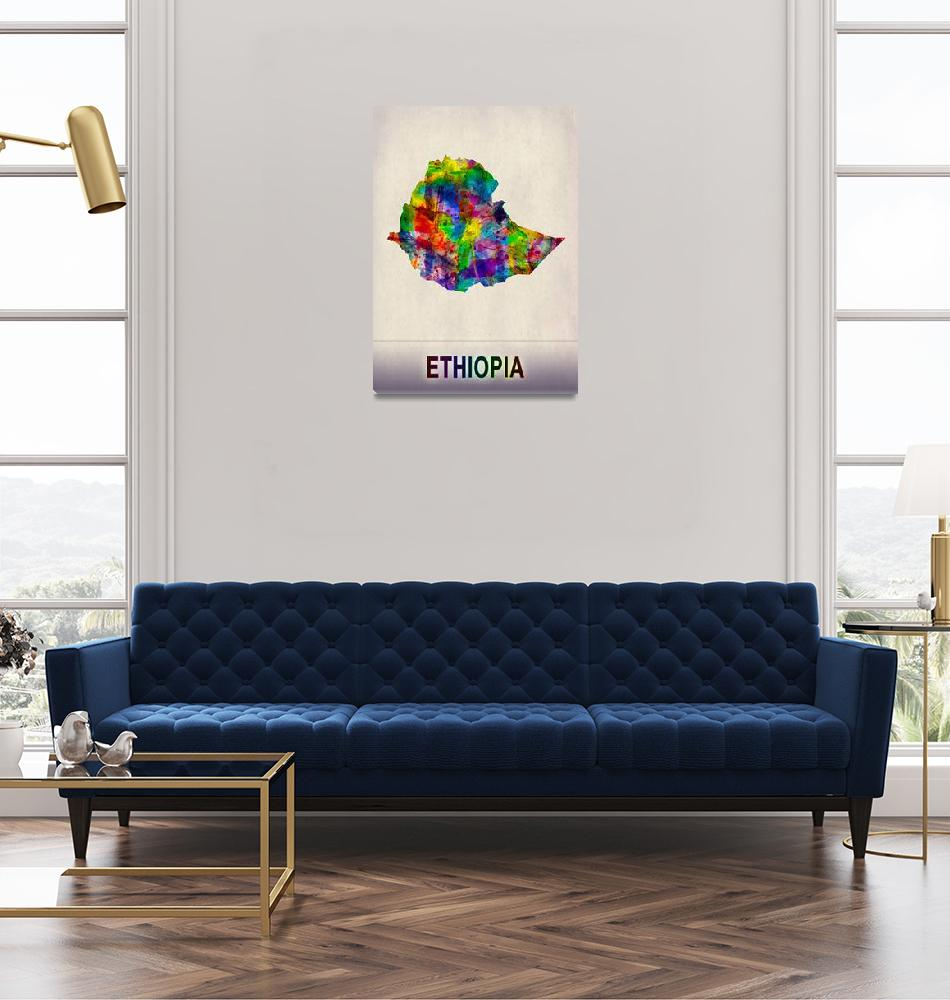 """""""Ethiopia Map""""  by Towseef"""