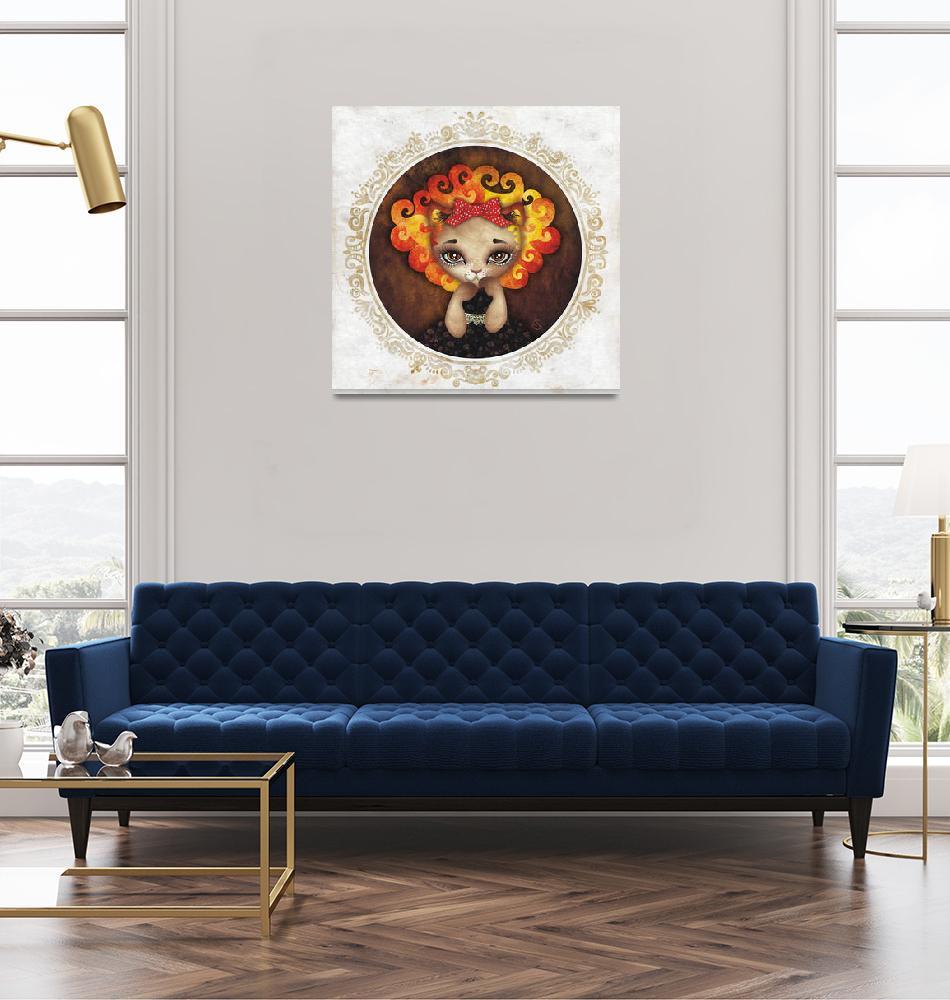 """Cowardly Lion""  (2010) by sandygrafik_arts"