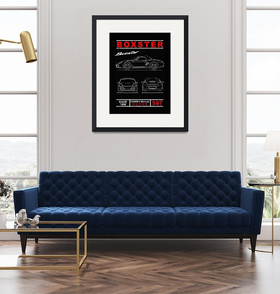 """""""Blueprint of the Boxster""""  by mark-rogan"""