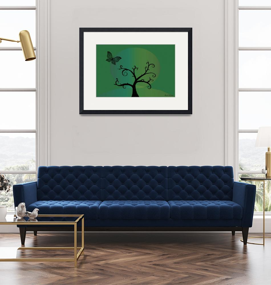 """""""Last Tree Standing - Green""""  (2008) by ProvencalDesigns"""