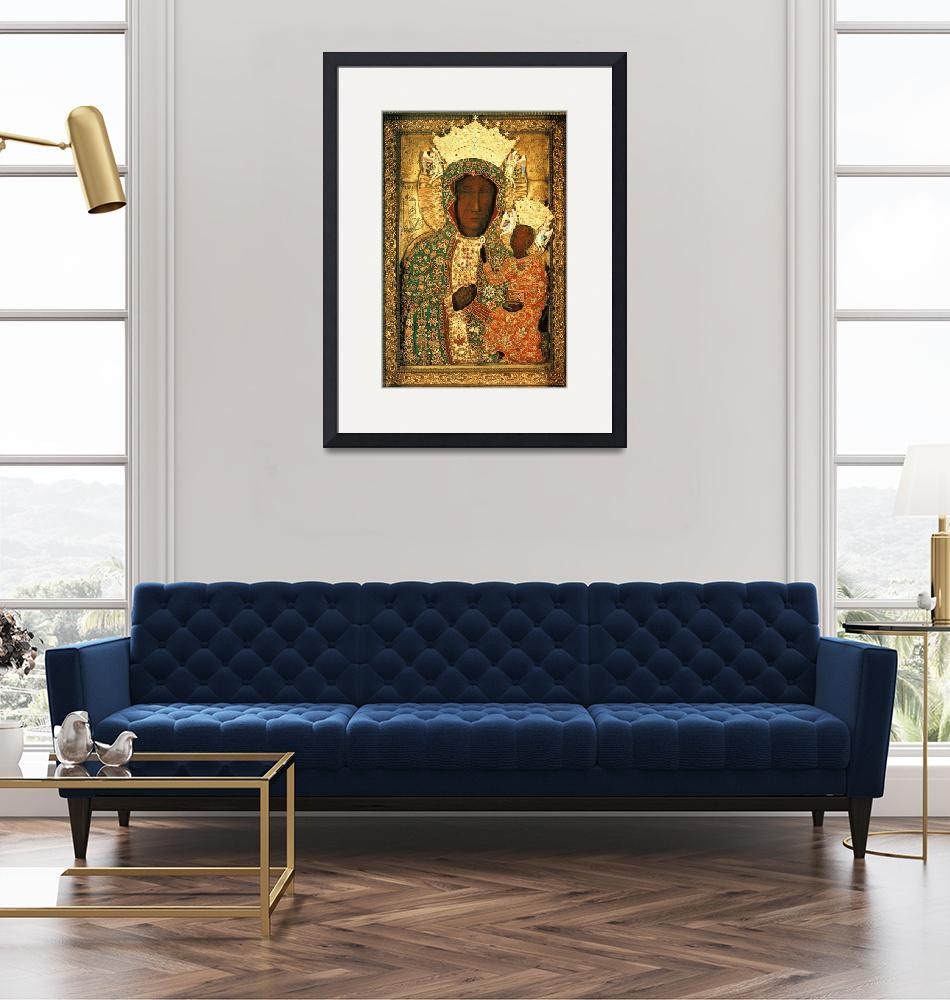 """""""Our Lady of Czestochowa Icon Black Madonna Poland""""  (1910) by Maggy"""