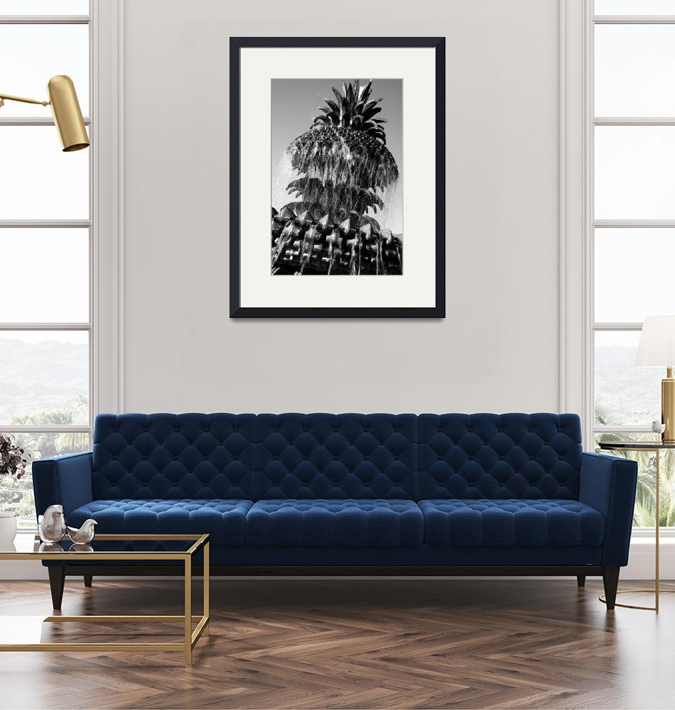 """""""Pineapple Fountain No. 3, Charleston, SC""""  (2008) by PadgettGallery"""