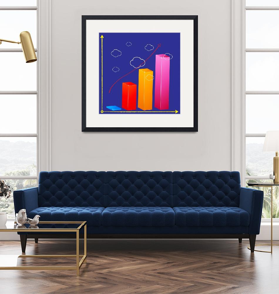 """""""business bar graph in the clouds""""  by robertosch"""