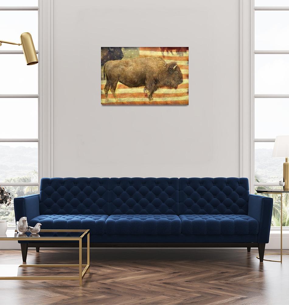 """American Buffalo""  (2014) by lightningman"