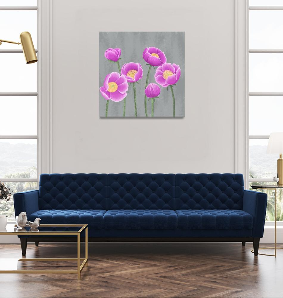 """""""Peonies (1)""""  (2010) by angelshair"""