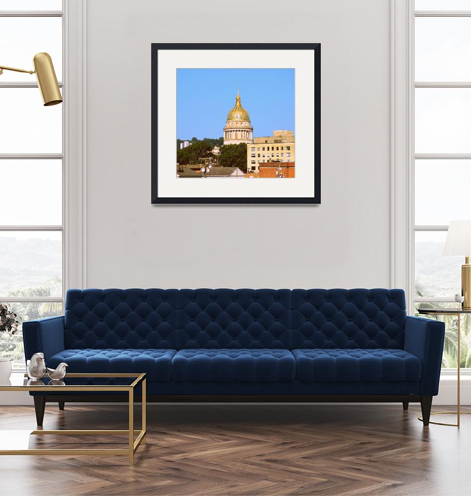 """Charleston, WV Capital Dome and Buildings"" by Artsart"