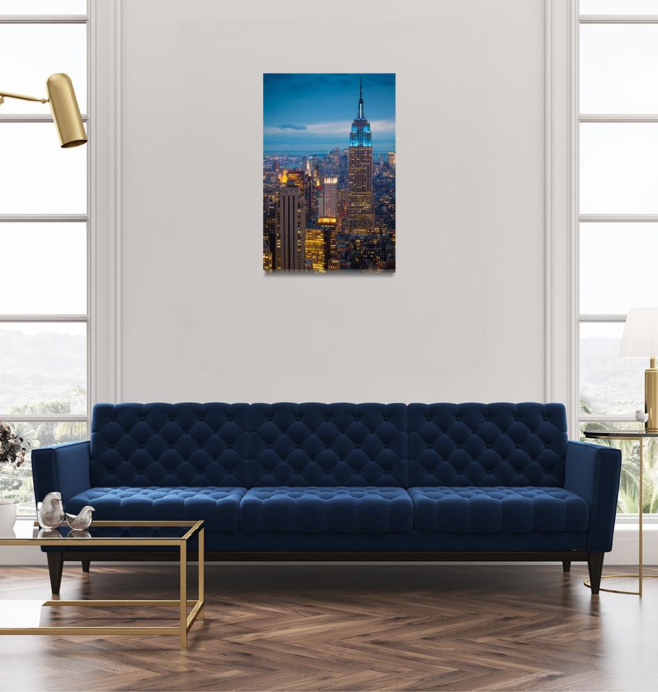 """Empire State Blue Night""  (2011) by Inge-Johnsson"