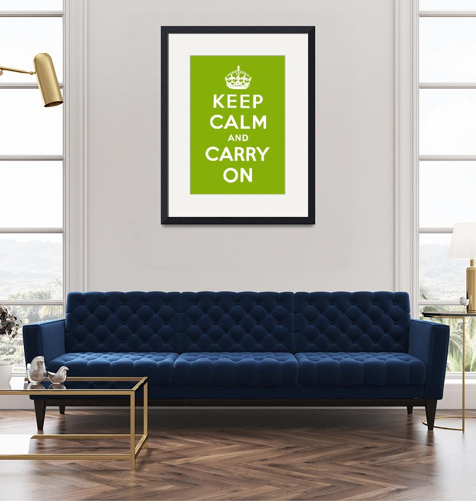 """""""Green Keep Calm And Carry On 2""""  by oldies"""