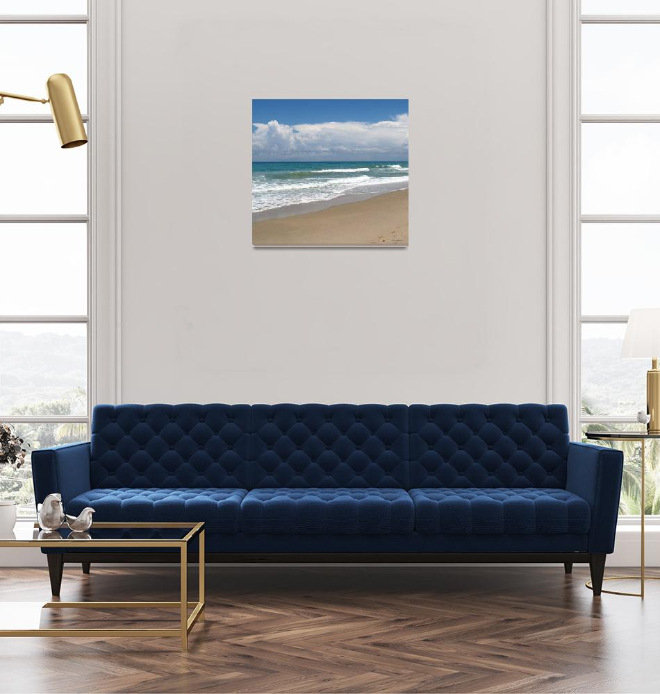 """Treasure Coast Beach Seascape C4 Triptych M""  (2015) by Ricardos"