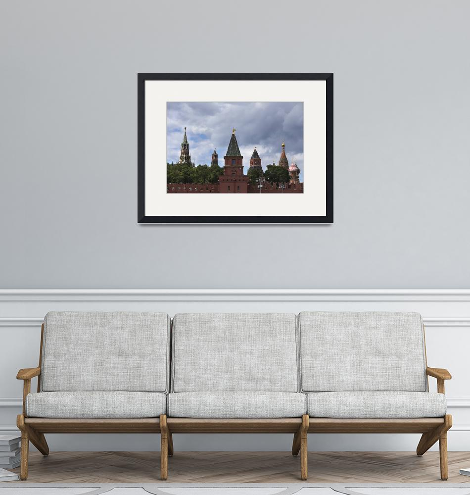 """""""Russia, Moscow, view on Kremlin towers""""  by vkph64"""