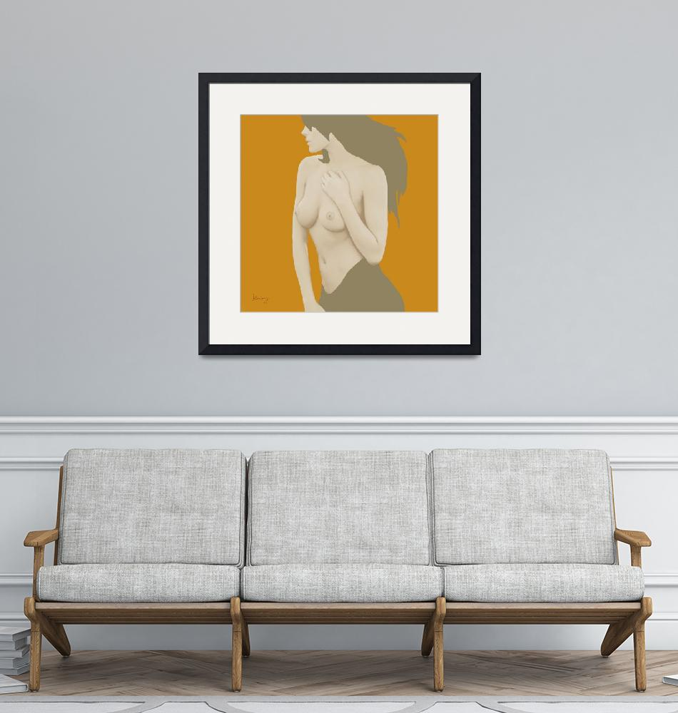 """Pop art nude etching poster"" (2014) by visualharbour"