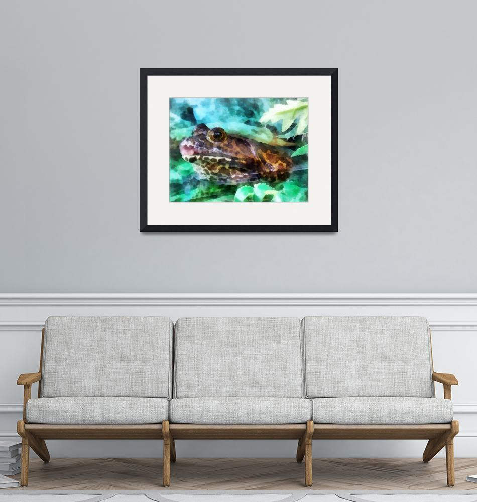 """""""Frog Waiting to be Kissed""""  (2012) by susansartgallery"""