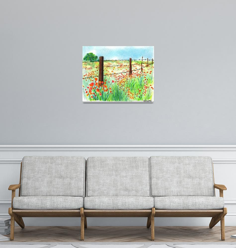 """""""Field of Poppies""""  (2010) by sharonblanchard"""