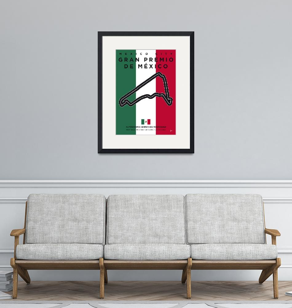"""My F1 Mexico Race Track Minimal Poster""  by Chungkong"
