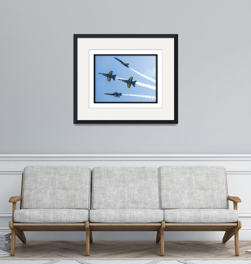 """Blue Angels Break""  (2014) by markeloperphotography"