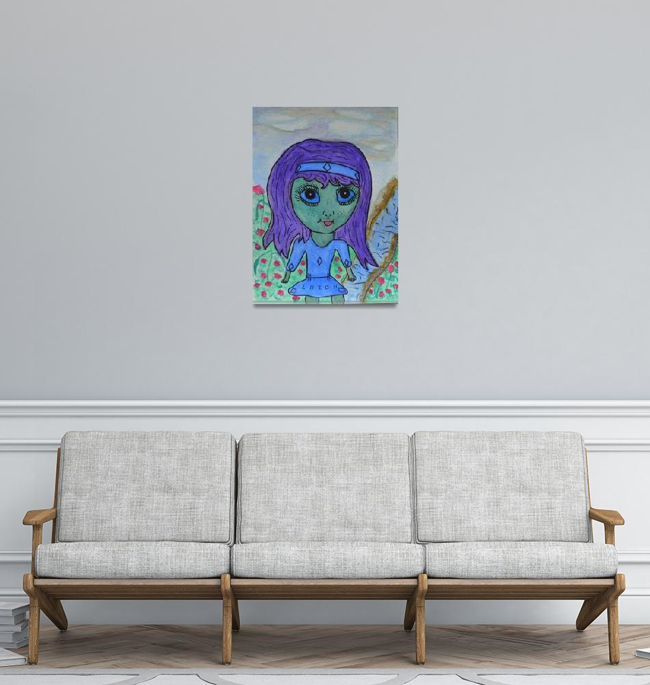 """""""Blue Girl""""  (2013) by KYoungSeries"""