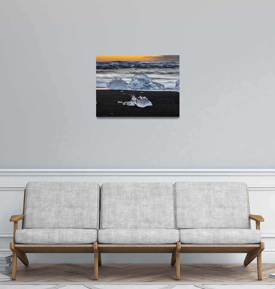 """Diamond Beach, Iceland""  (2018) by DanWeberPhoto"