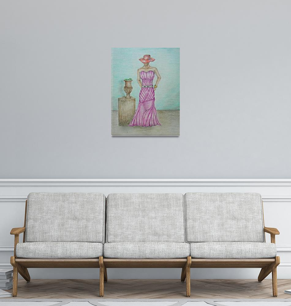 """""""lady in pink""""  (2011) by thuraya"""