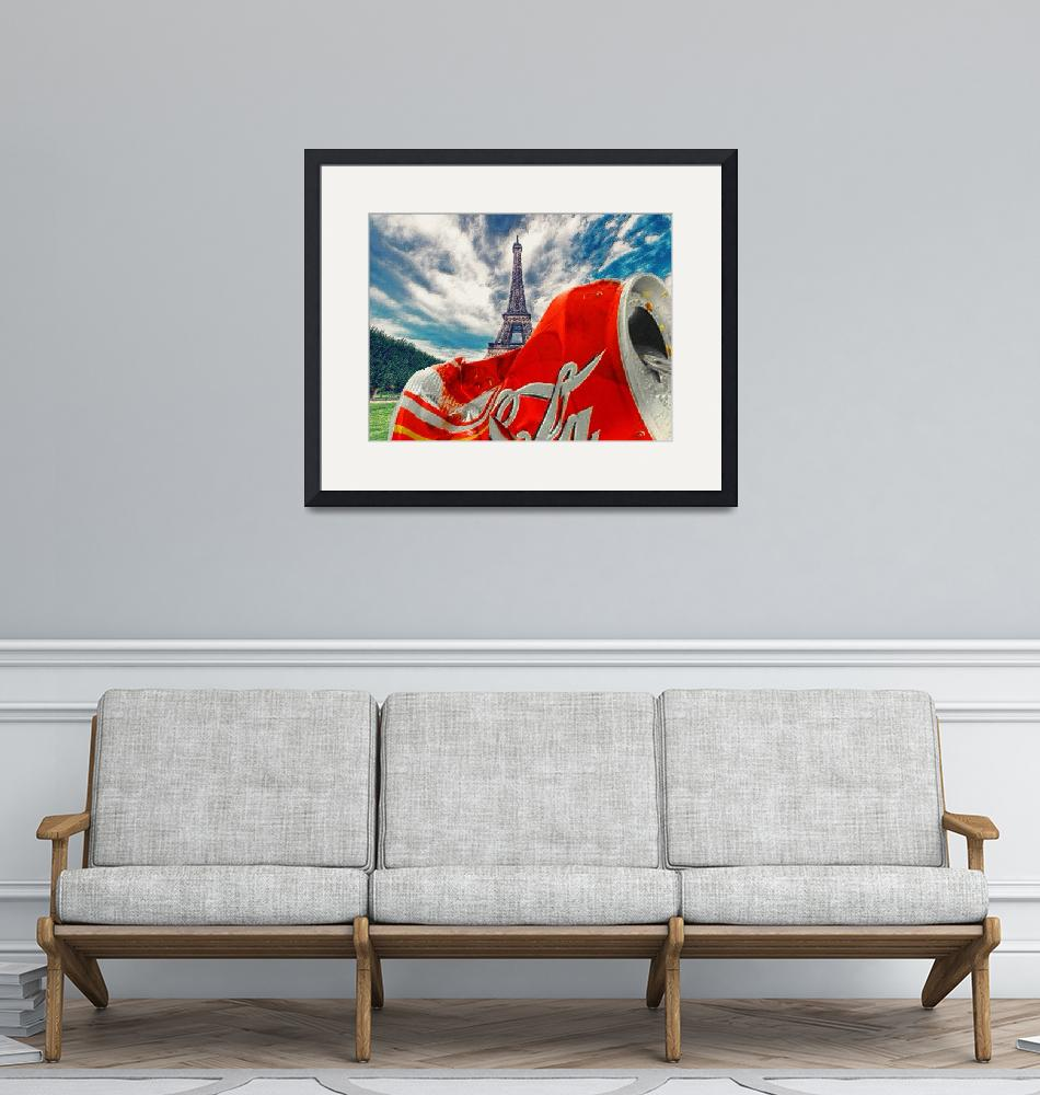 """""""Coca-Cola Can Trash Oh Yeah - And The Eiffel Tower""""  by RubinoFineArt"""