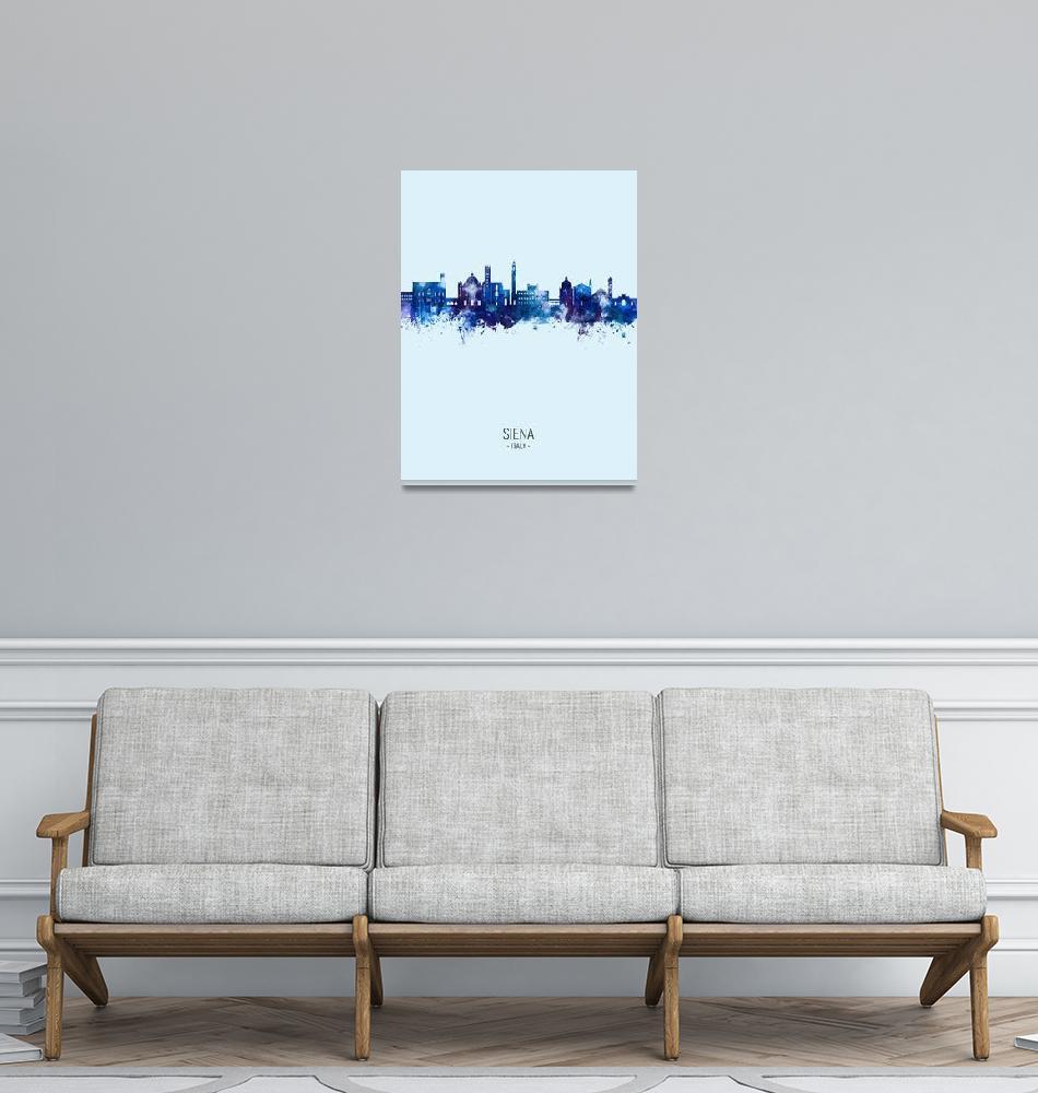 """""""Siena Italy Skyline""""  (2021) by ModernArtPrints"""