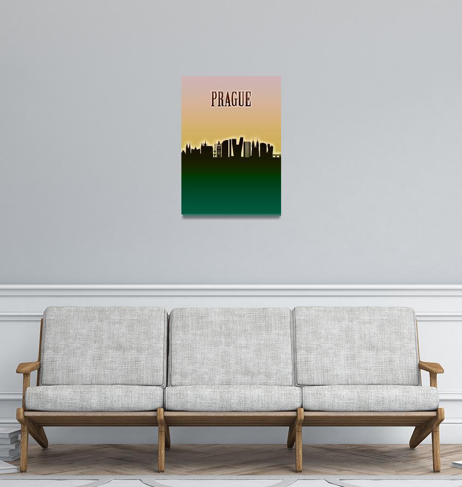 """Prague Skyline""  by Towseef"