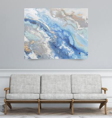 <b>Found Solace II - Blue Abstract</b> by Christine Bell (2017)