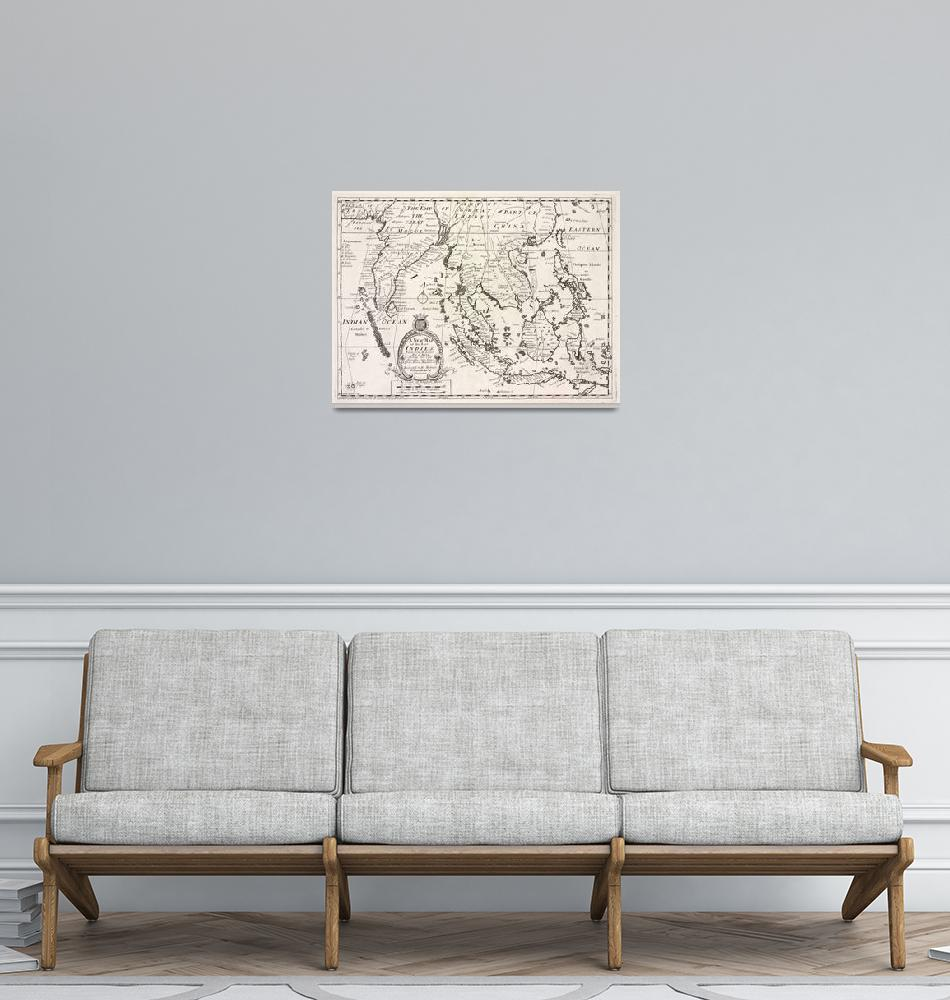 """""""Vintage Map of Indonesia (1700)""""  by Alleycatshirts"""
