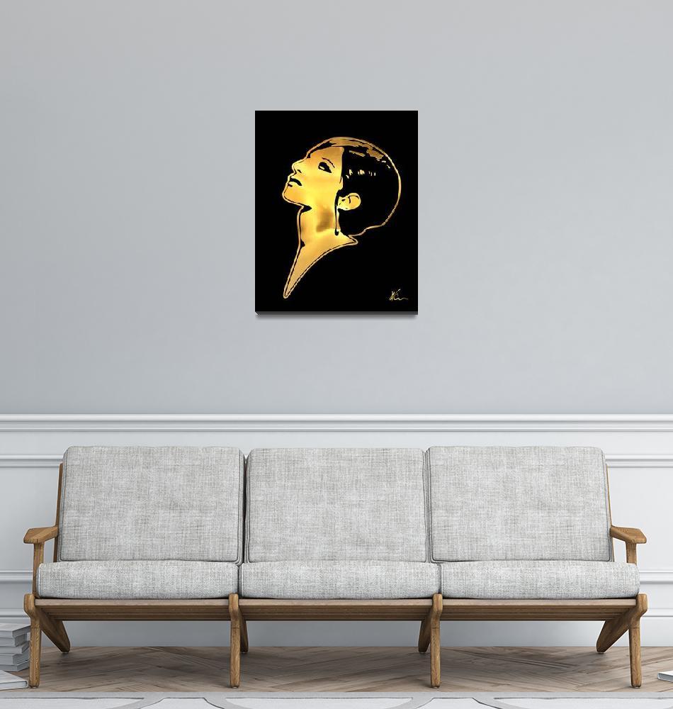"""Barbra Streisand | Gold Series | Pop Art""  (2021) by wcsmack"