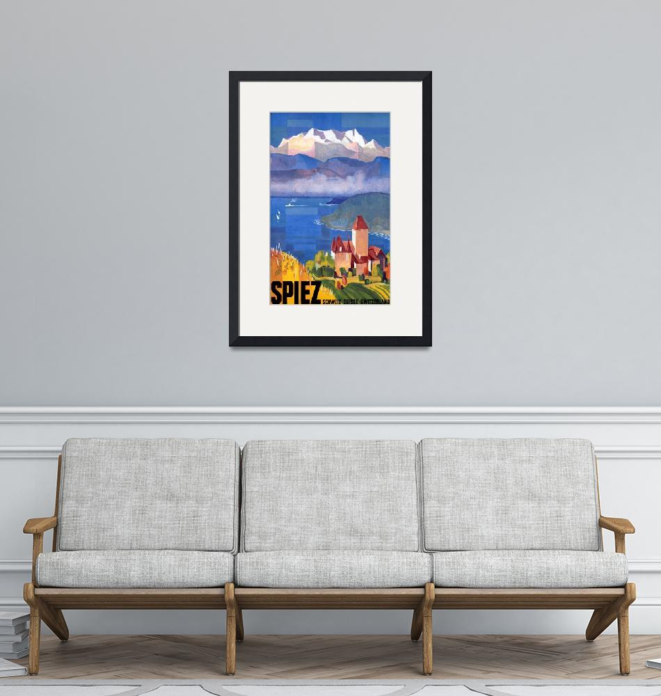 """""""Switzerland Vintage Travel Poster""""  by FineArtClassics"""