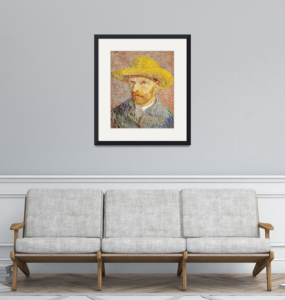 """""""Self-Portrait with Straw Hat by Van Gogh""""  by FineArtClassics"""