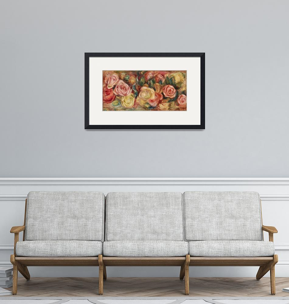 """""""Roses by Renoir""""  by FineArtClassics"""