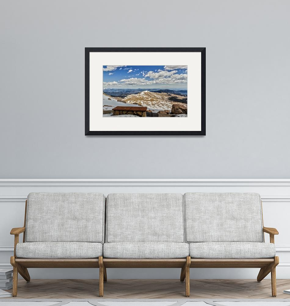 """""""Front Row Seat On Mount Evans Summit_""""  (2014) by Lorraine_Sommer"""