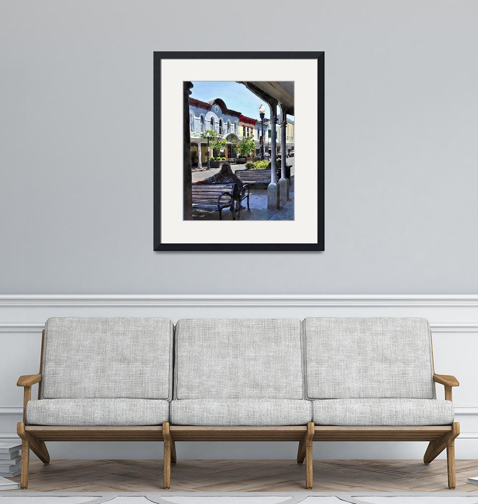 """Kingston NY - Relaxing on N Front St""  by susansartgallery"