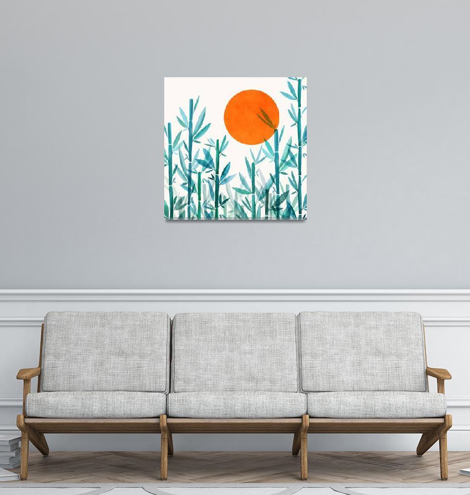 """""""Zen Garden Sunset""""  (2019) by moderntropical"""