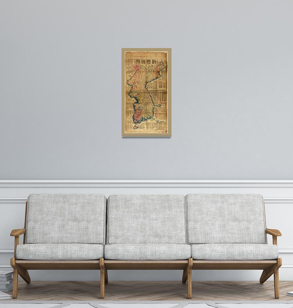 """Map of Korea (1822)""  by ArtHistory"