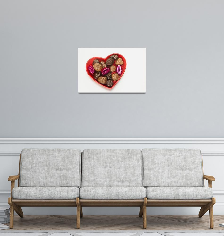 """""""Valentines heart-shaped  tray with assortment of s""""  by DesignPics"""