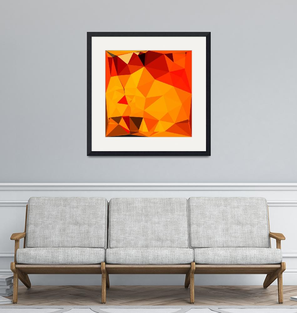 """""""Cadmium Yellow Abstract Low Polygon Background""""  (2016) by patrimonio"""