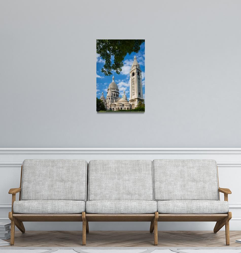 """Towering Sacre-Coeur""  (2012) by Inge-Johnsson"