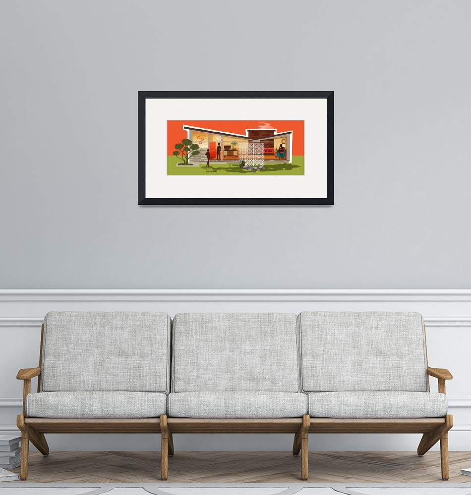 """""""Mid Century Modern House gay women, Butterfly Roof""""  by DianeDempseyDesign"""