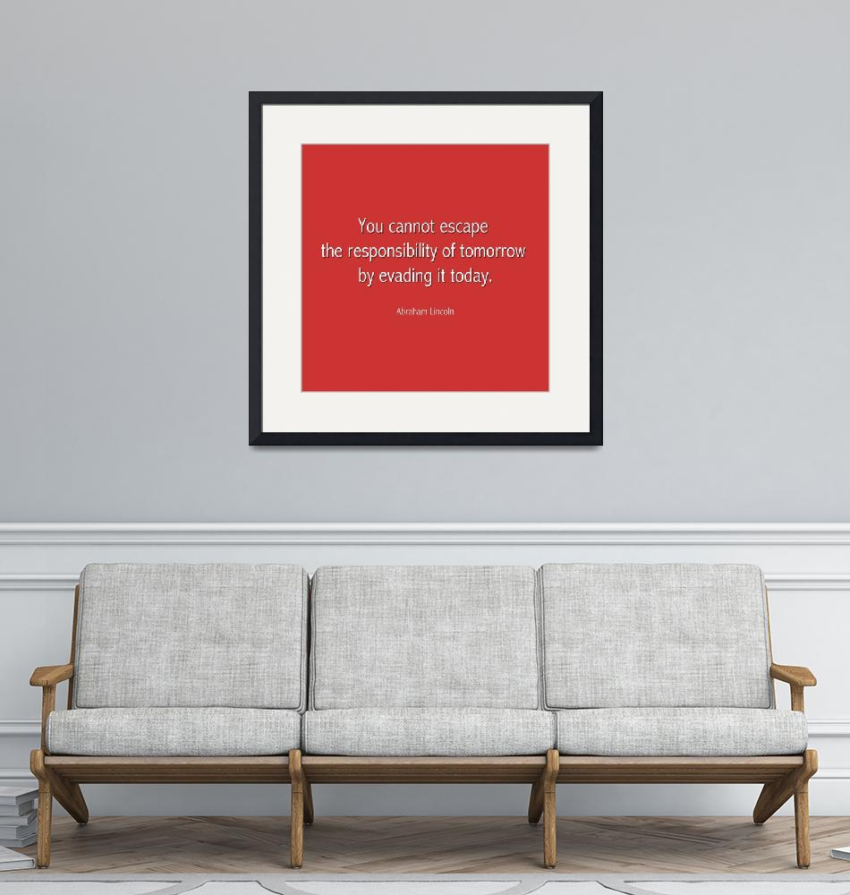 """""""Abraham Lincoln Famous Quote  - Red""""  by motionage"""