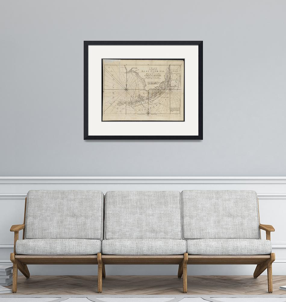 """""""Vintage Map of The Florida Keys (1771)""""  by Alleycatshirts"""