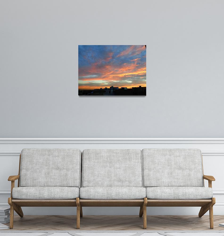 """""""SKYLIGHT SUNSET""""  (2019) by BOUTHEINA"""