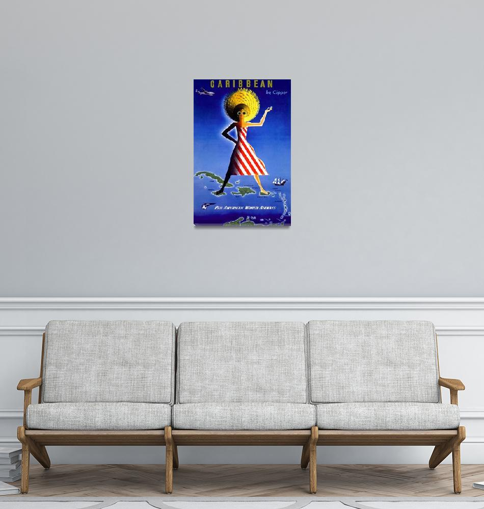 """Caribbean Vintage Travel Poster""  by FineArtClassics"