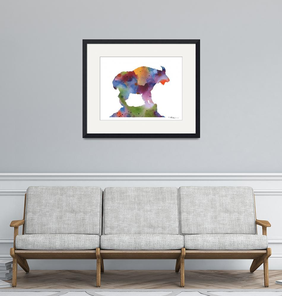 """Mountain Goat""  (2017) by k9artgallery"